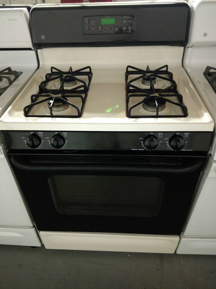 Black And White Gas Stove Glen Burnie Used Appliances