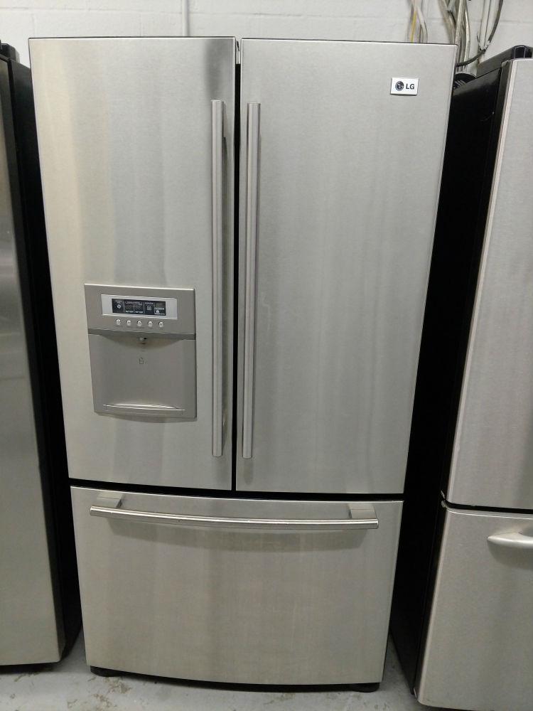 Ordinaire Stainless Steel Three Door Refrigerator