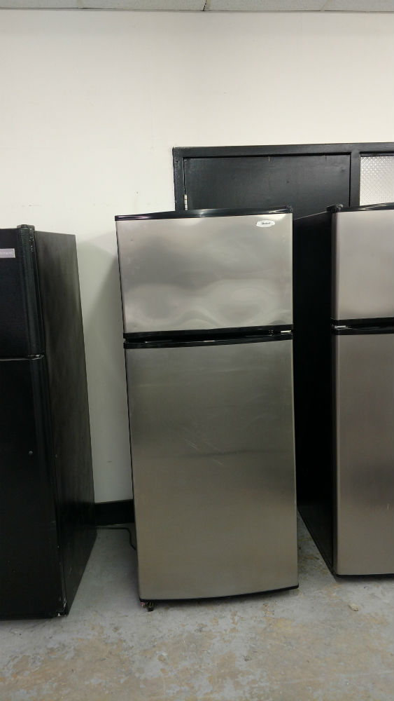 Used stainless steel fridge